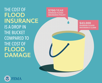 Image with information regarding flood insurance.