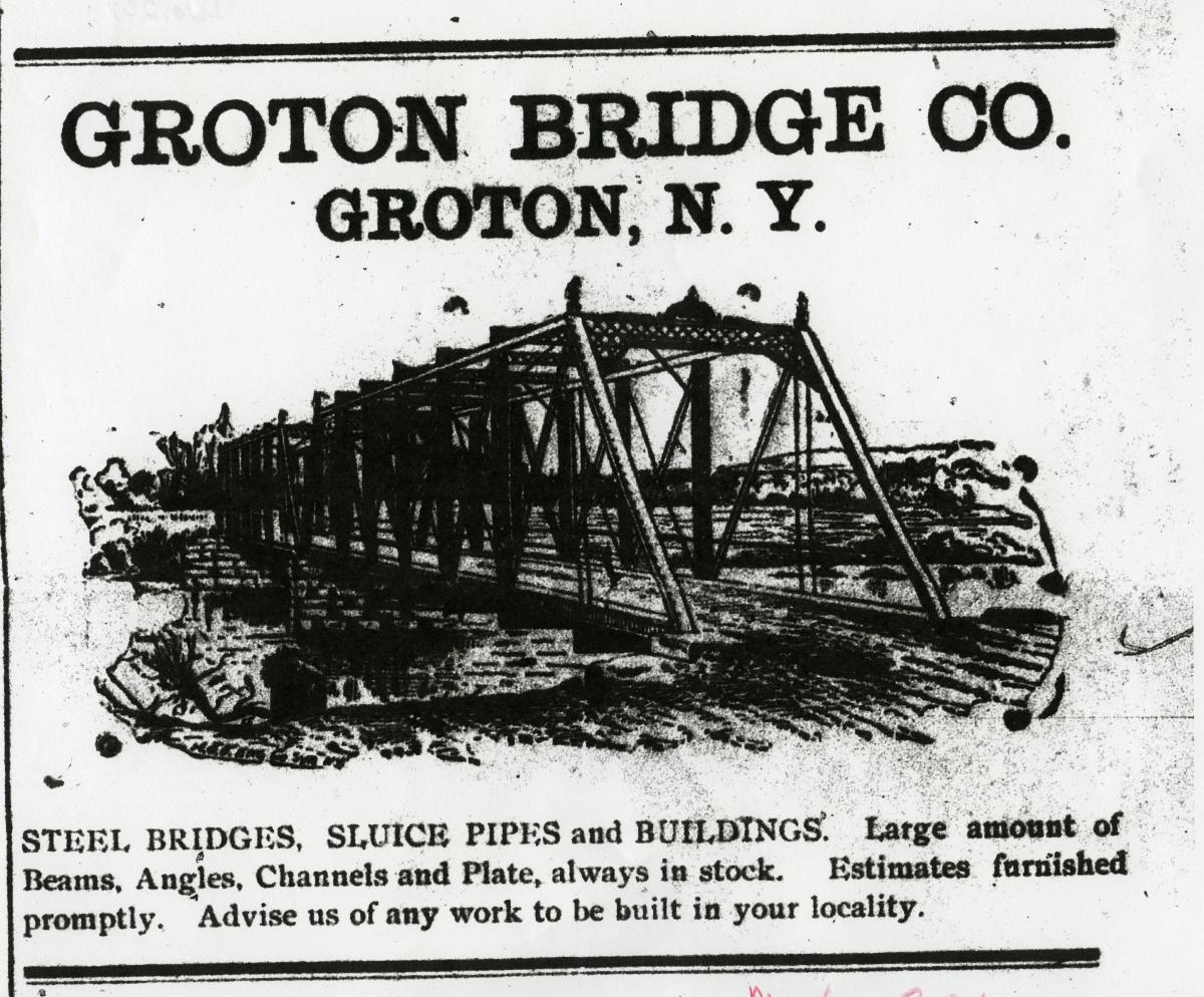 Groton Bridge Co Advertisment