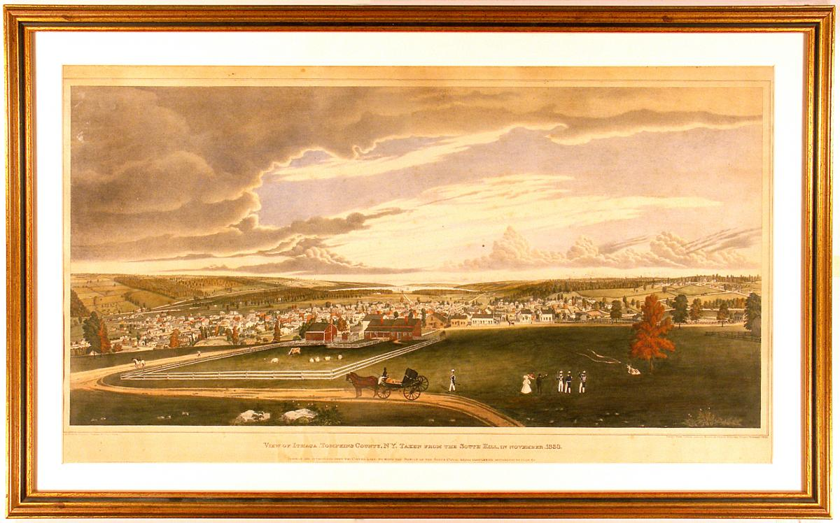 View of Ithaca from South Hill, Henry Walton painting 1833