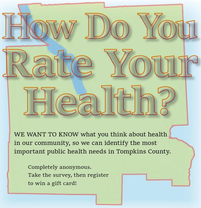 Community Health Survey   www.tompkinscountyny.gov