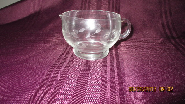 Vintage Princess House Crystal Creamer