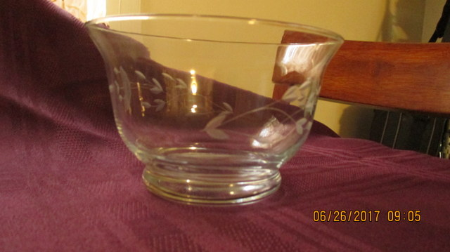Vintage Princess House Crystal Bowl