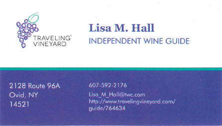 Lisa Hall, Independent Wine Guide Business Card