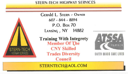 Stern-Tech Highway Services Business Card - Front Side