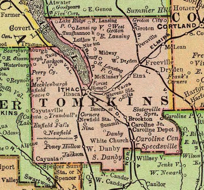 Image of Tompkins County Map