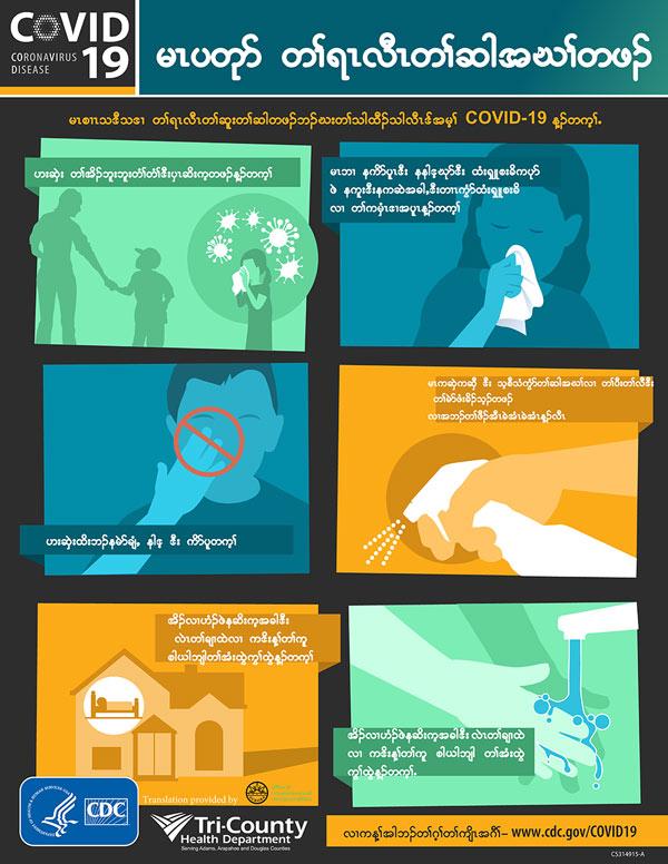 CDC Stop the Spread poster in KAREN