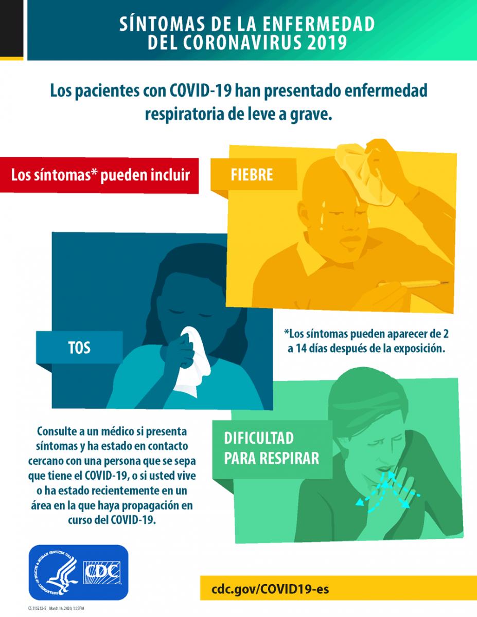 Image of Symptoms poster in Spanish