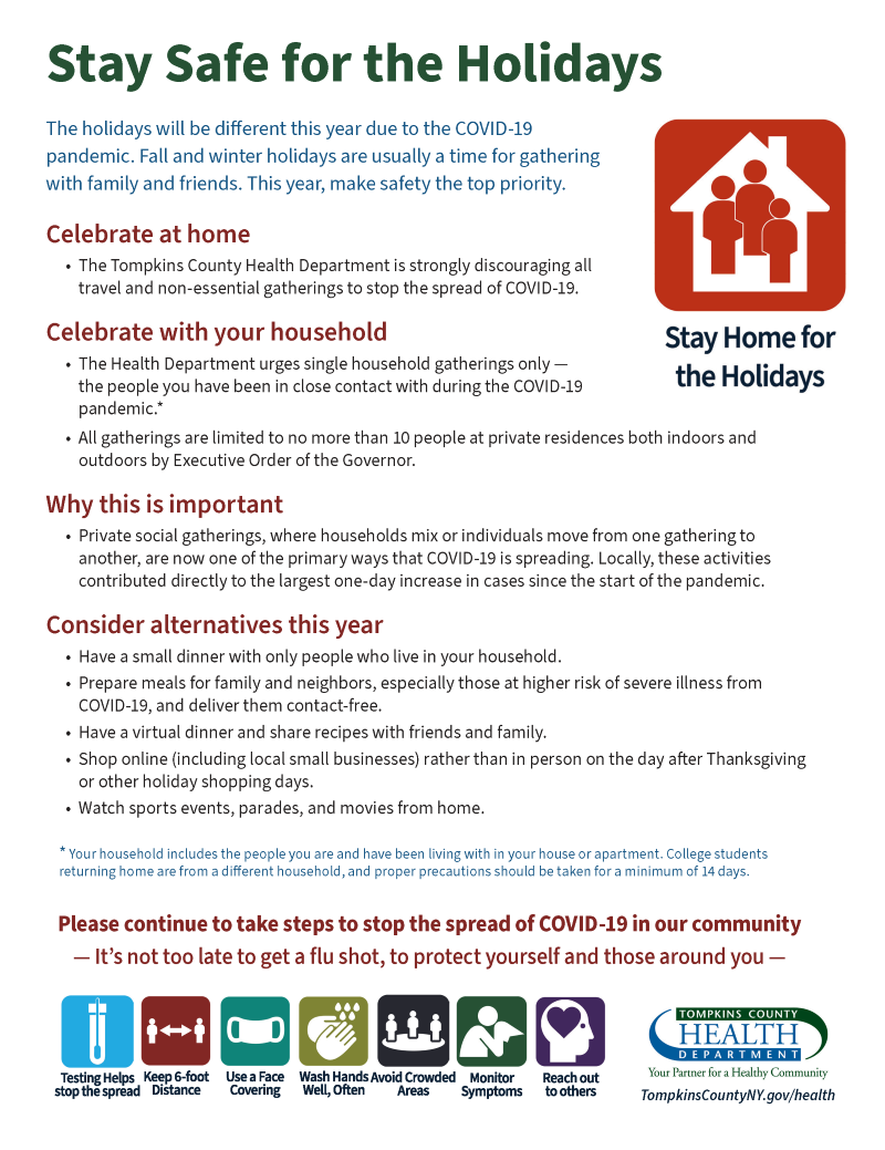 Image of Flyer for Stay Safe for the Holidays
