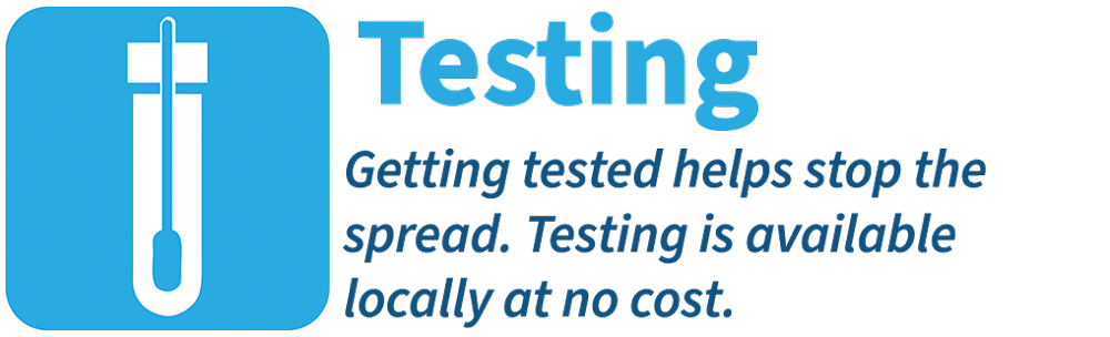 Testing--getting tested helps stop the spread of COVID-19