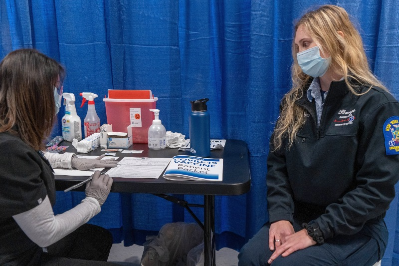 CHS-TCHD Vaccination Clinic at the mall -- Jan 7 2021 -- PHOTO CREDIT CAYUGA HEALTH SYSTEM