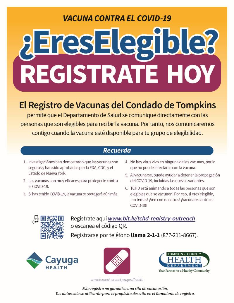 Eligible? Register Today poster in Spanish (image)