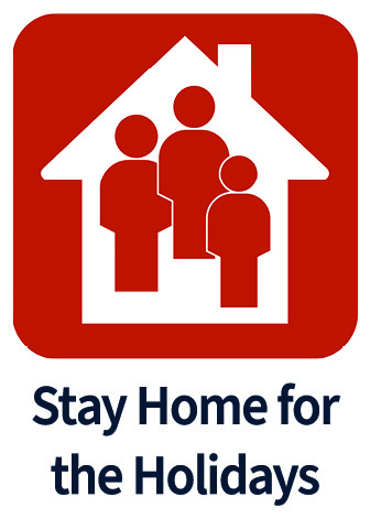 Stay home for the holidays icon