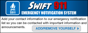 Register for Swift911 alerting system
