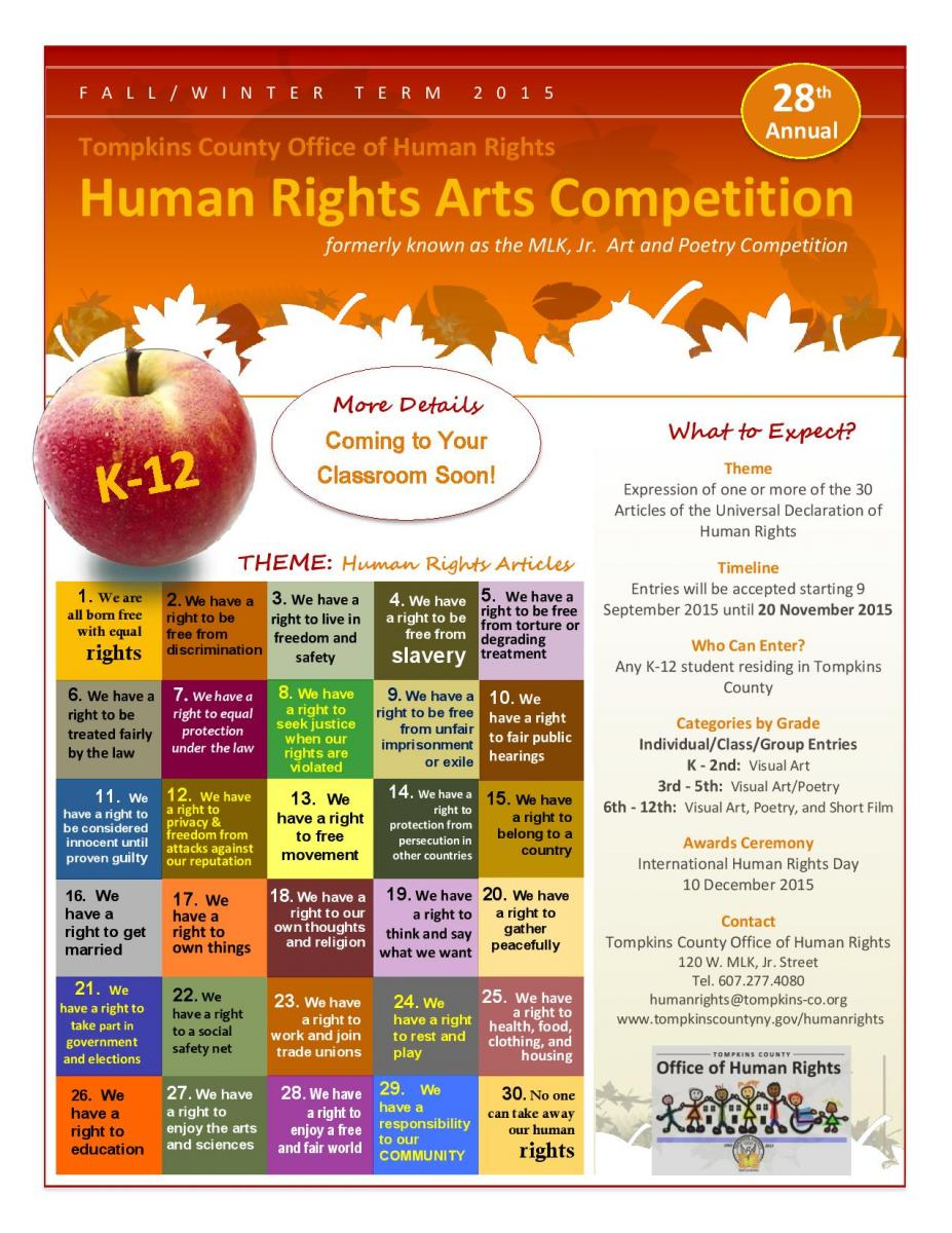 human rights essay contest The columbus human rights commission is accepting entries from local students for the j irwin miller art contest and the benjamin m king essay contest this year's theme is the columbus human rights commission is accepting entries from local students for the j irwin miller art contest and the benjamin m king essay contest.