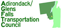 green image of the land area covered by the Adirondack/Glens Falls Transportation Council