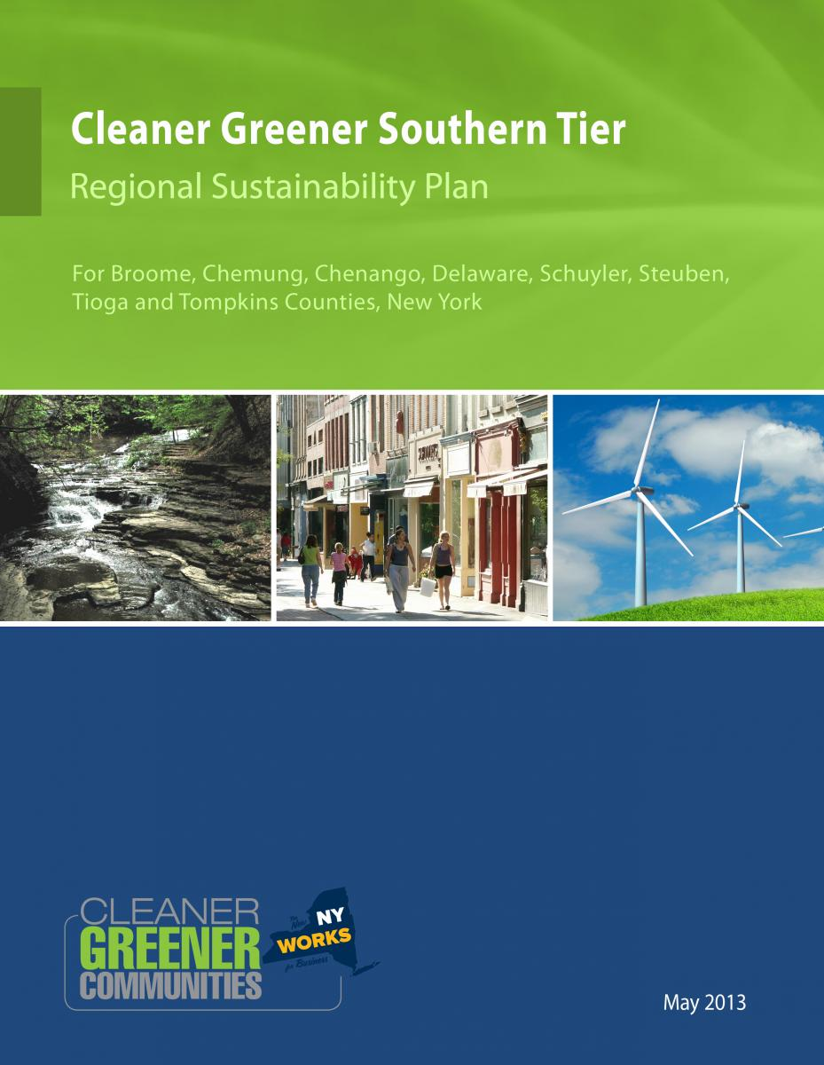 Cleaner Greener Southern Tier Regional Sustainability Plan Cover