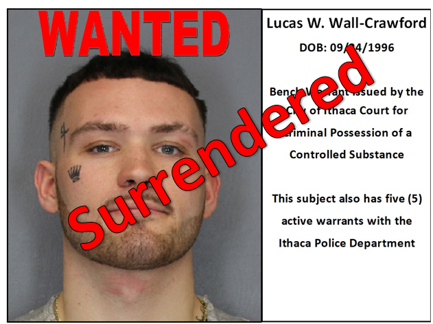 Lucas Wall-Crawford Warrant Surrendered