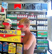 Cigarette display in a WNY convenience store